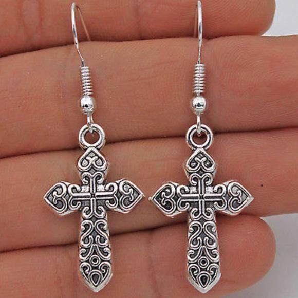 670d61f2b Jewelry | 1 Celtic Cross Earrings Sterling Silver | Poshmark